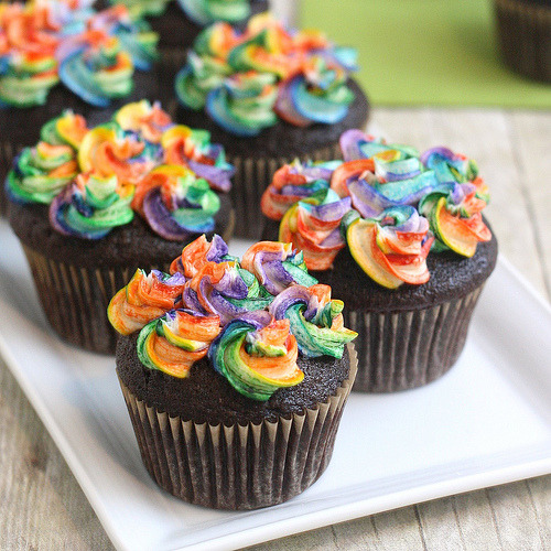 thecakebar:  Rainbow Chocolate! (recipe)