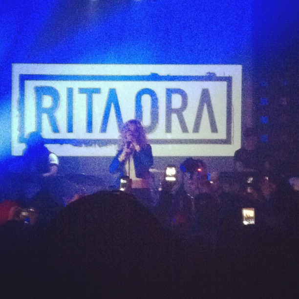 my #girlcrush @ritaora sanggginnn @SOBs 😍😍 (Taken with instagram)