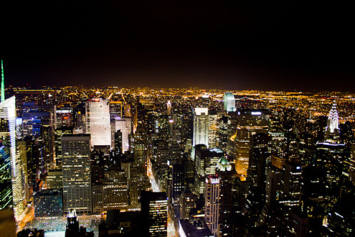 NYC Lights by Laura Varney-Watts on Flickr.