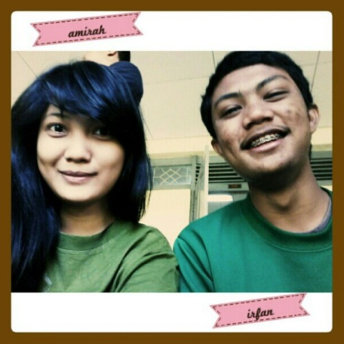 Thursday is green day? Hahaha @petapa_rikudo #friend #green #afterclass #smile #cheer #photooftheday (Taken with instagram)