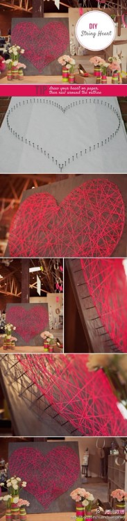 sunny8987:  String Heart  It's easy to DIY, and it looks brilliant!  Gonna get this for my room.