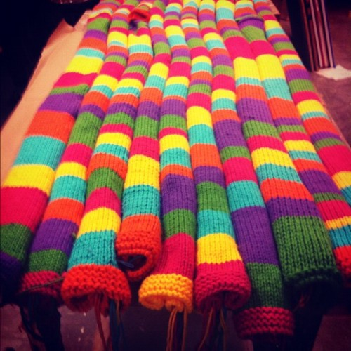 The end is in sight #yarnbombing #knitting (Taken with instagram)
