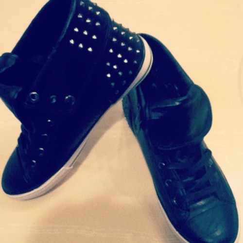 👟 #new #shoes #aldo #spikes #leather  (Taken with instagram)