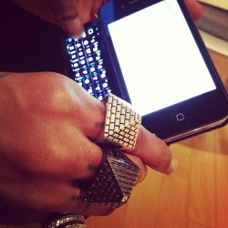 souljaboytellem:  $oulja typing on his new iPhone (Taken with instagram)