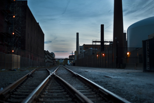 Railroad tracks near MIT in #CambridgeMA.
