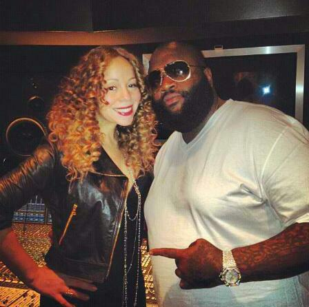Mariah & Rick Ross in the studio. Possible Collab? I'm all for it! Instagram @richforever