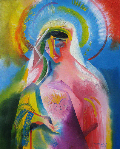 farfalladox:  The Immaculate Heart of Mary. 2010 by Stephen B Whatley (by Stephen B Whatley)