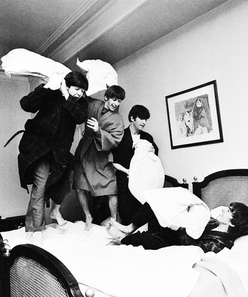 The Beatles, photographed by Harry Benson, 1964.