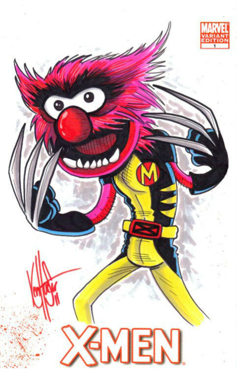 xombiedirge:  X-Men Muppets by Ken Haeser  Dear God these are fucking GENIUS. I would kill for some of these as T-Shirts