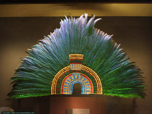 "temactli:  thinkmexican:  Motecuhzoma's ""Feathered Crown,"" One Step Closer to Returning to Mexico Austria formalized an agreement with Mexico on Tuesday that will allow for the return of a feathered headdress believed to have once belonged to Motecuhzoma Xocoyotzin. The headdress, which is often referred to as a feathered crown, is commonly known by most Mexicans as ""El Penacho de Moctezuma,"" or ""Moctezuma's feathered headdress."" Austria's Ministry of Culture and Education made clear that the headdress' return to Mexico is considered a ""loan,"" not the repatriation one of Mexico's most important cultural symbols. The headdress is believed to have been taken to Spain by Hernán Cortés in 1519. Reports say Archduke Ferdinand of Austria obtained it in 1590. It's been housed at the Museum of Ethnology in Vienna since the early 1800's. Much of the credit for leading the efforts to return the headdress to Mexico goes to Xokonoschtletl Gómora. See video of him below. The majority of Mexicans, included those who responded to a question we posted on Twitter and Facebook, support having the headdress stay in Mexico. Video: Xokonoschtletl Gómora - Apoya el Regreso de la Corona de Moctezuma   Ya regresenlo"