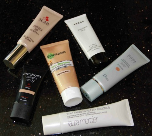 Here's our take on various Tinted Moisturizers and BB Creams.   http://www.thestunningpost.com/2012/04/tinted-moisturizers-vs-bb-creams/
