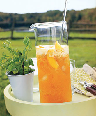Sweet Peach Tea http://www.epicurious.com/recipes/drink/views/Sweet-Peach-Tea-240228