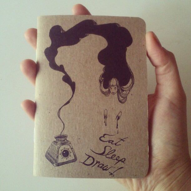 my new mini sketchbook! (Taken with instagram) limited edition, 230 of 250 books.