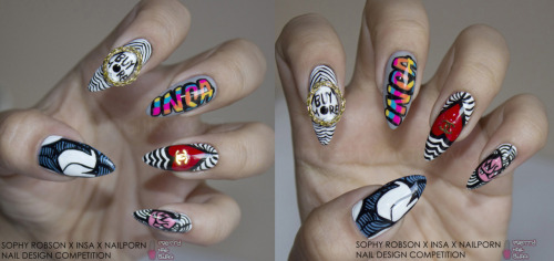 My 2nd entry for the SOPHY ROBSON X INSA X NAILPORN NAIL DESIGN COMPETITION Click the pic to see the full sized HQ photo.