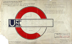 kentson:  Logotype (Original drawing for the London Underground by Edward Johnston)