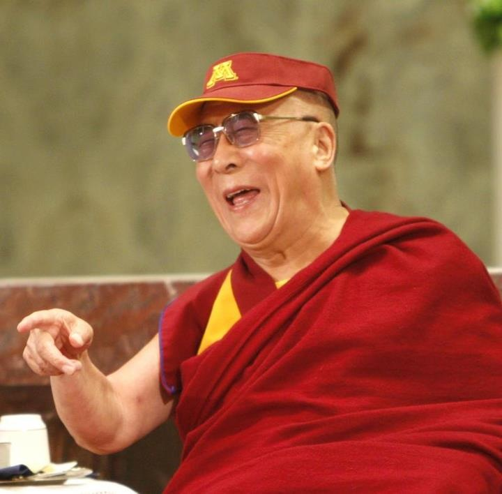 "dysfunctionarian:  ""Even the Dalai Lama loves Maroon and Gold! Check out the visor His Holiness sported after his annual physical at the Mayo Clinic in Rochester — Gopher pride knows no borders!""  - via Minnesota Gophers, Facebook"