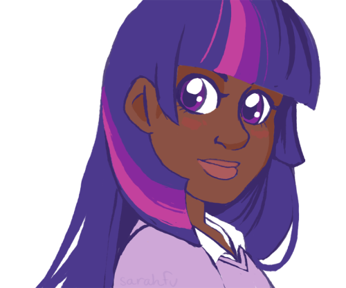 sarahfu:  if you have any disdain for the headcanon of Twilight being black then i'm sorry but we can't talk like ever