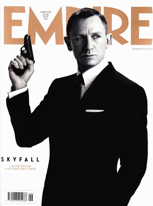 filmfashionfunfemme:  Empire June 2012 cover featuring Daniel Craig as James Bond wearing Tom Ford for the film Skyfall