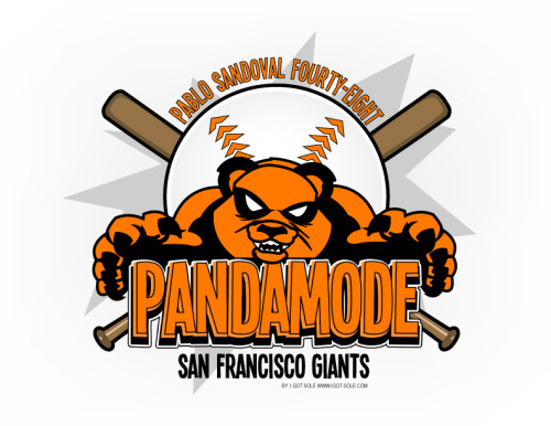 PABLO SANDOVAL aka The Kung-Fu Panda #PANDAMODE In honor of Pablo's great start to the 2012 season I decided to do an illustration of #Pandamode ENJOY =) for more of my work please follow me on tumblr or visit my website www.igot-sole.com or follow me on twitter @igotsole