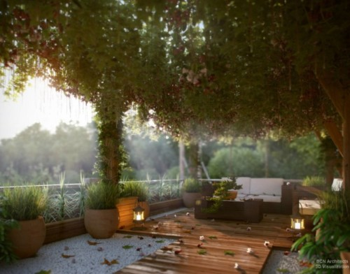 homedesigning:  Contemporary Exteriors in Nature [Visualized] (via Contemporary Exteriors in Nature [Visualized])  Another idea that won't work here in WA, but I love the feel of this outdoor garden/sitting area…