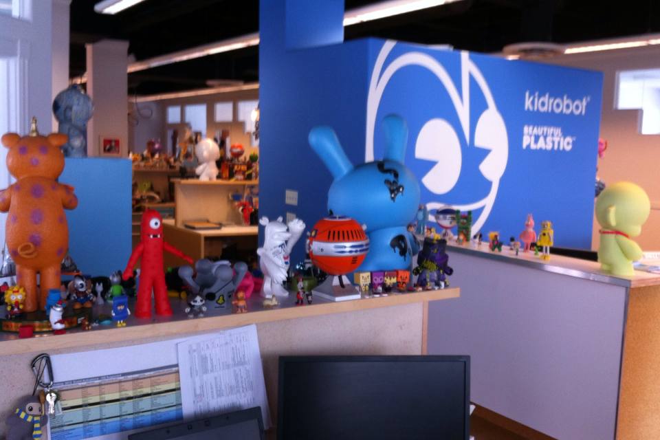 Quick visit to @kidrobot HQ in BDR