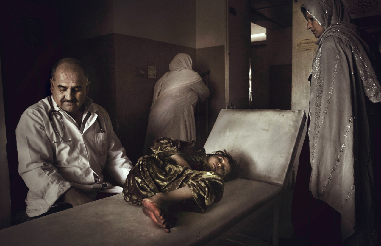 Seven-year-old Nadia at the Indira Gandhi Hospital in Kabul. Nadia has leukemia, which very few people survive in Afghanistan. Photo: Jon Wentzel The war in Afghanistan is not over. Help us tell the story. Fund our Kickstarter.