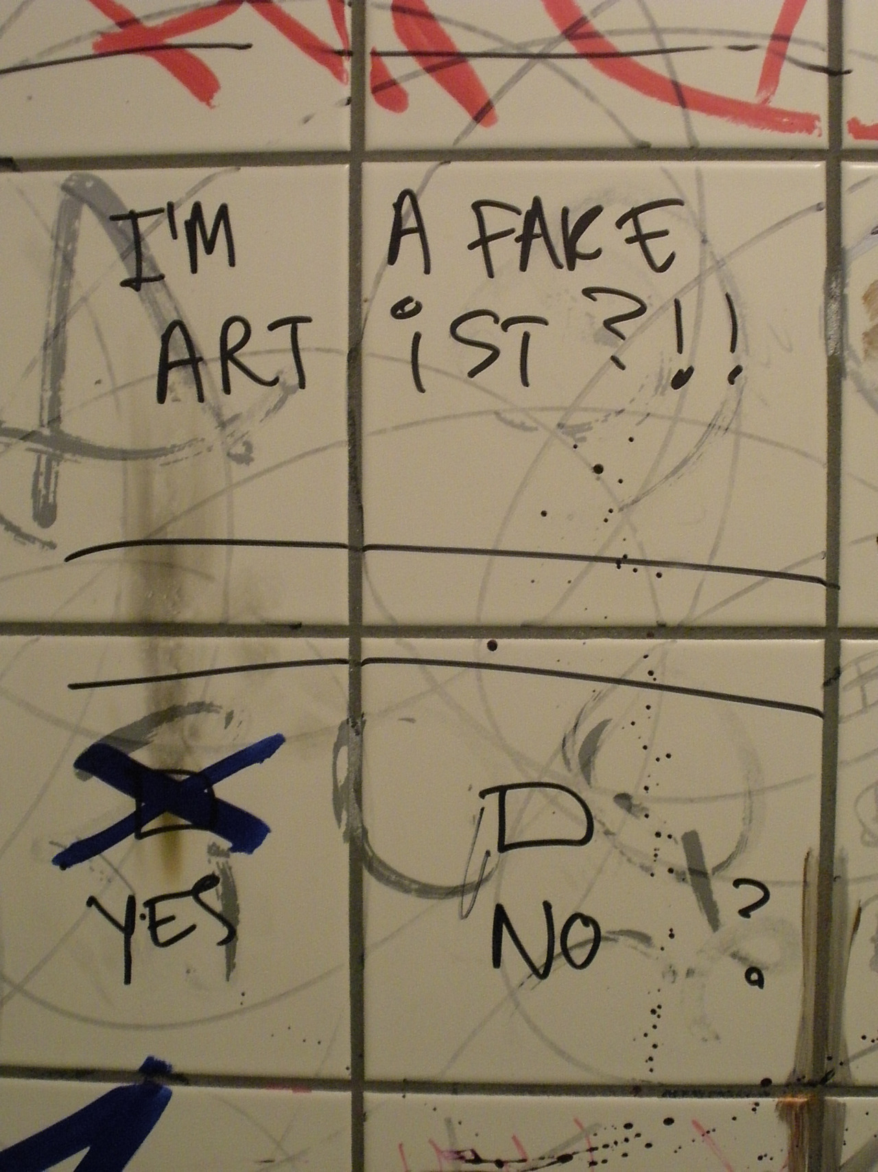 I AM A FAKE ARTIST Taken @ BAKKUS Unisex Bathroom Reykjavik, Iceland July 2010