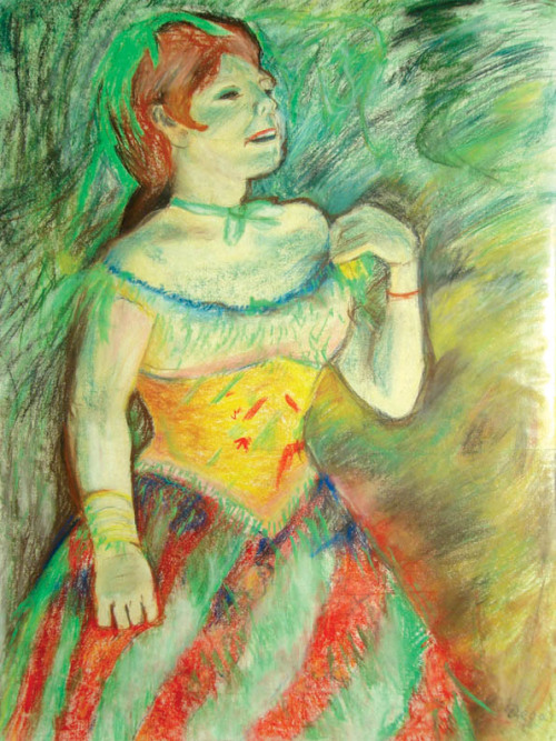 chalk pastel drawing - copy of Degas work