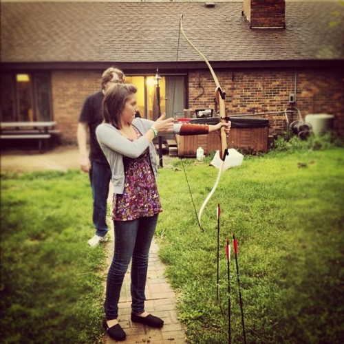 Call me #Katniss! #HungerGames #BowandArrow #Wannabe #lol #shooting #me #girl #peeta #WheresMyPeeta? (Taken with instagram)