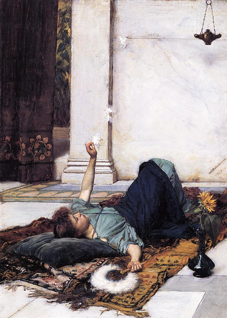 Its Sweet Doing NothingJohn William Waterhouse1879