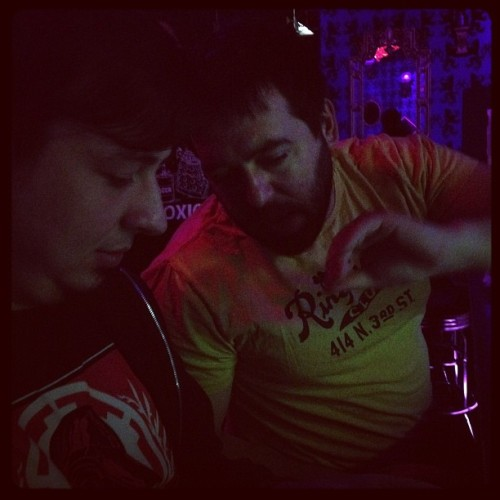 Two friends (Taken with Instagram at Little Miss Whiskey's Golden Dollar)