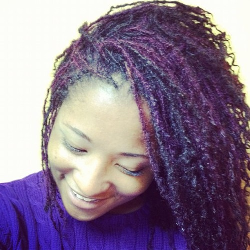 sneak peek. my purple #sisterlocks! #naturalhair