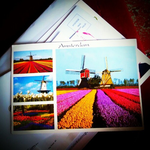 Postcard arrived! #amsterdam #postca (Taken with instagram)
