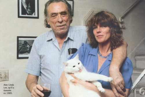 hockey-teeth:  Bukowski, Linda and Cat 1985