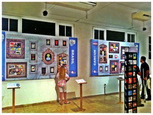 Freecard Exhibit with Postales LW