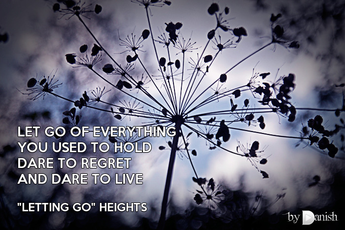 """Letting Go"" Heights Let go of everythingYou used to holdDare to regretAnd dare to live"