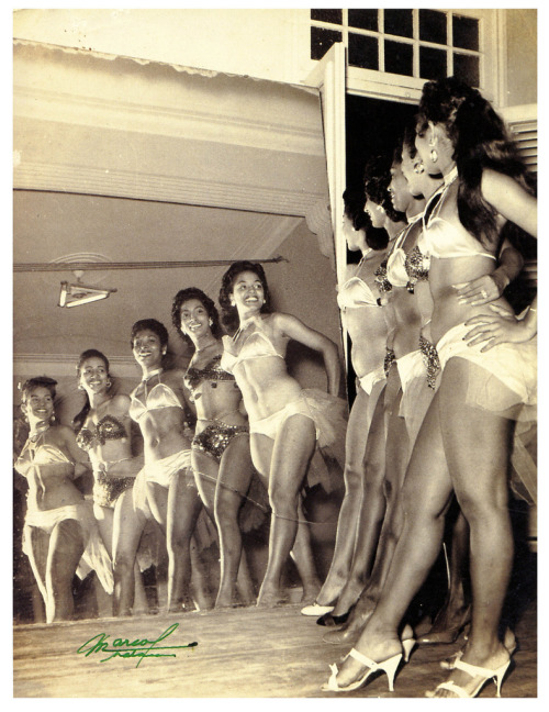 Tropicana Showgirls (by paul.malon) Havana 1954; photo by Foto Marcos.