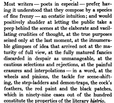 "Poe, ""The Philosophy of Composition"" 1846"