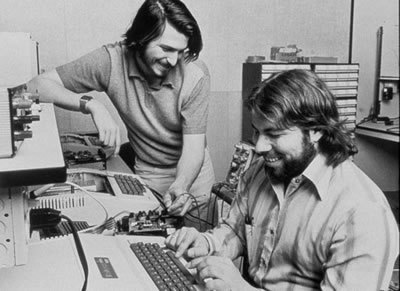 Steve Jobs e Steve Wozniak, co-fondatore di Apple.