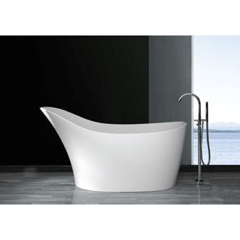 """The stunning slipper shape of the Olympian Pantheon Thinn Slipper Stone Bath freestanding bath allows total relaxation and pure comfort. The high sides mean you can sink into the warm water and disappear, allowing all the stresses of the day to be washed away."""