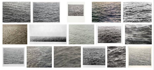 {Vija Celmins} Even on paper it's never the same sea twice.