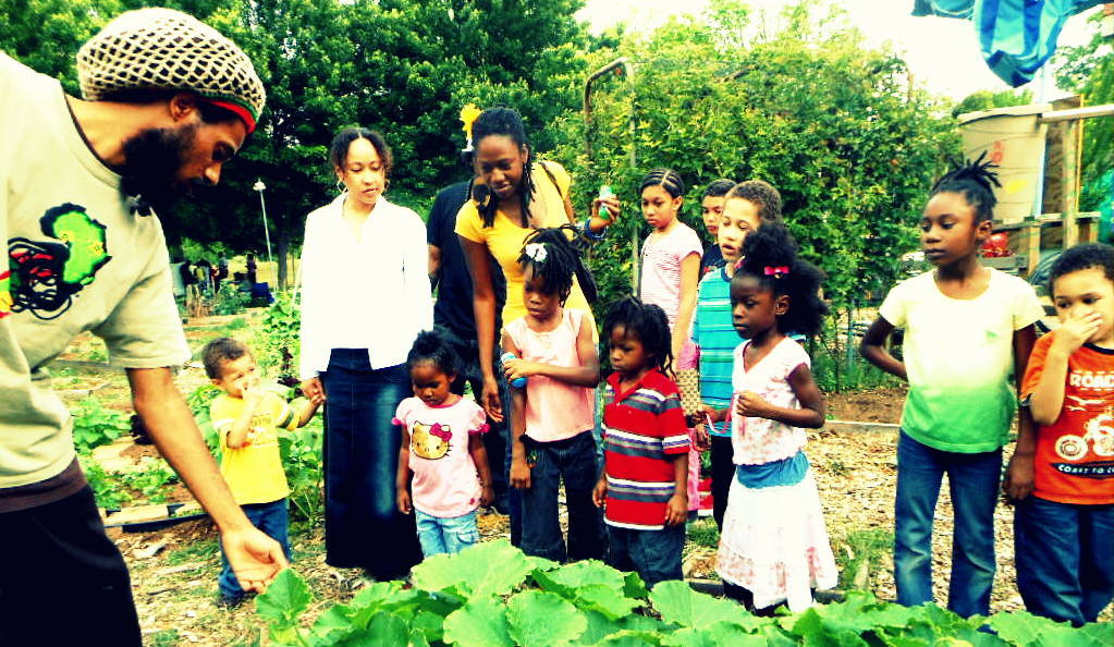 We must Save the Babies ! Habesha Inc. gave young children a tour through their Urban Garden this past weekend in Atlanta at their Family Fest!