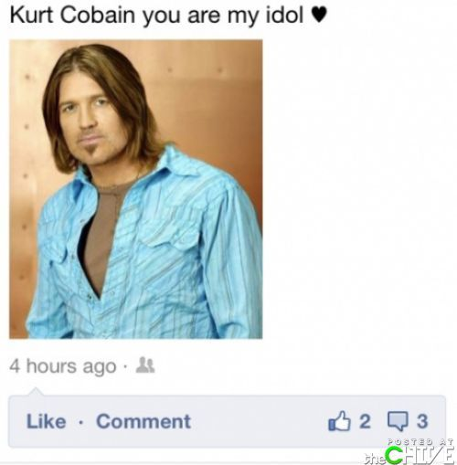 Kurt Cobain….apparently
