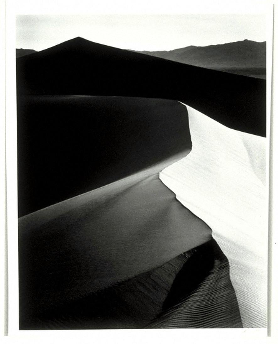 "Sand Dunes, Sunrise, Death Valley National Monument, California, from the ""Museum Set Edition"" Ansel Adams via"