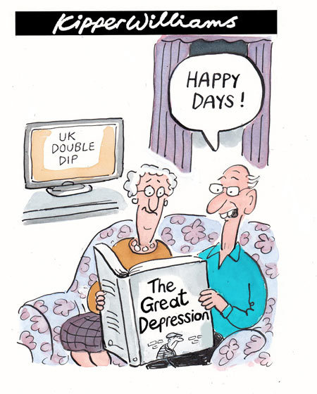 Kipper Williams cartoon: UK's double-dip recession
