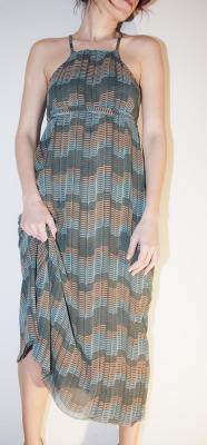 the petrol maxi dress