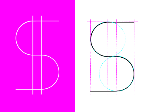 Fun, was making S lettering/typography, then added two details, what happened - I need a dollar, dollar is what I need;)) ALOE BLACC