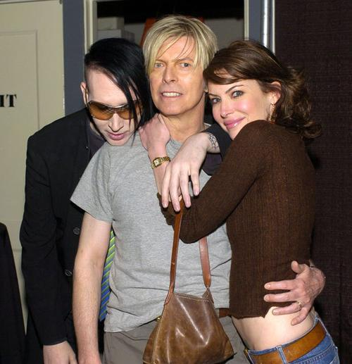 David Bowie and Lara Flynn Boyle