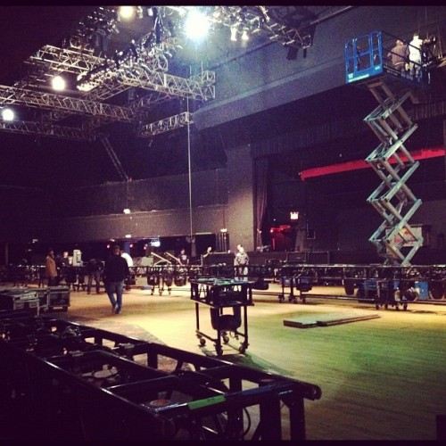 7am - Loading in (Taken with Instagram at Roseland Ballroom)