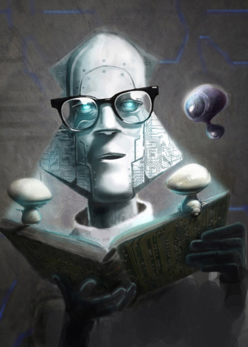 heyoscarwilde:  Isaac Asimov illustrated by Eric Scala :: via belial.fr